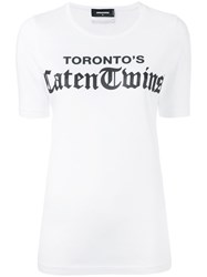 Dsquared2 Toronto's Caten Twins T Shirt White