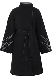 Gareth Pugh Embroidered Bonded Crepe Coat