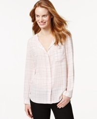Calvin Klein Jeans Printed Button Front Shirt Rose