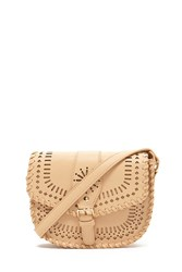 Forever 21 Faux Leather Cutout Crossbody Tan