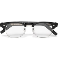 Cutler And Gross D Frame Acetate And Metal Optical Glasses Black