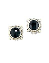 Effy Balissima Onyx Sterling Silver And 18K Yellow Gold Stud Earrings