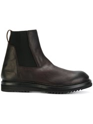 Rick Owens Ankle Length Boots Men Calf Leather Leather Foam Rubber 45 Brown