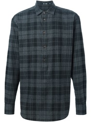 Blk Dnm Plaid Shirt Grey