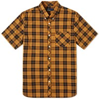 Fred Perry Short Sleeve Check Pocket Shirt Yellow