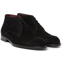 Brioni Suede Chukka Boots Black