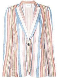 Frame Striped Blazer Multicolour
