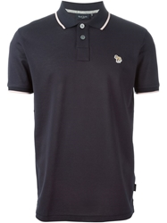 Paul Smith Embroidered Horse Polo Shirt Blue