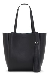 Vince Camuto Small Nylan Leather Tote Black Nero