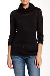 Zoa Cowl Turtleneck Sweater Black