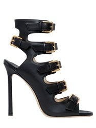 Jimmy Choo 110Mm Trick Multi Buckle Leather Boots