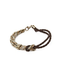 Icon Brand Bracelet With Nautical Rope Beige Beige