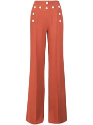 Derek Lam High Waisted Wide Legged Trousers Yellow And Orange