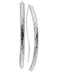 Giani Bernini Decorative Curved Bar Threader Earrings In Sterling Silver Only At Macy's