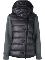 Moncler Grenoble Padded Front Hoodie Grey