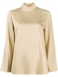 Theory High Standing Collar Top Neutrals