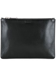 Jil Sander Logo Embossed Clutch Black