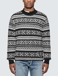 Versace Knit Jacquard Sweater Multicolor