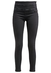 Patrizia Pepe Slim Fit Jeans Black Grey Denim