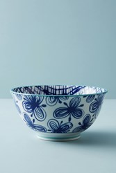 Anthropologie Marta Serving Bowl Navy