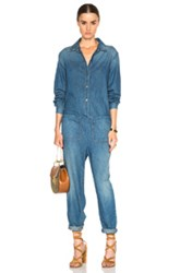 The Great Coverall Jumpsuit In Blue