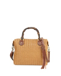 Hilsey Woven Satchel Bag Honey Eric Javits