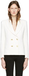 Balmain Pierre Off White Classic Fitted Blazer