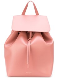 Mansur Gavriel Drawstring Backpack Women Leather One Size Nude Neutrals