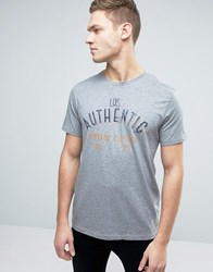 Jack And Jones Vintage T Shirt With Graphic Print Light Grey