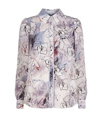 Reiss Mia Printed Shirt Female Multi