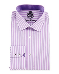 English Laundry Shadow Stripe Woven Dress Shirt Lavender