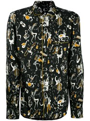 Dolce And Gabbana Musical Print Pyjama Shirt Black