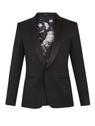 Alexander Mcqueen Shawl Lapel Single Breasted Mohair Blazer Black