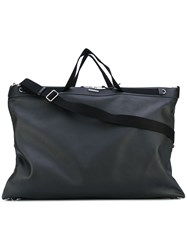 Saint Laurent Large Id Convertible Bag Men Cotton Calf Leather One Size Black