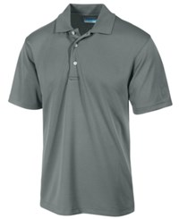 Pga Tour Men's Airflux Solid Golf Polo Shirt Asphalt