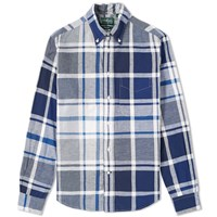 Gitman Brothers Vintage Big Madras Shirt Blue