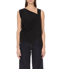 Anglomania Tine Crepe Top Black