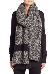 Moncler Sciarpa Mix Knit Scarf Black