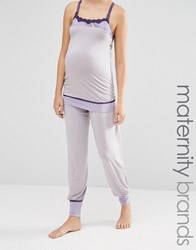 Cake Lingerie Sugar Plum Long Pyjama Bottom Grey Lilac
