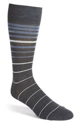 Boss Men's Stripe Socks Charcoal Black