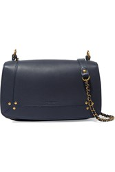 Jerome Dreyfuss Bobi Textured Leather Shoulder Bag Navy