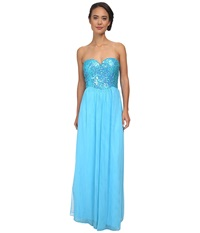 Gabriella Rocha Sinead Gown Turquoise Women's Dress Blue