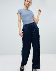 Monki Jogger Style Trousers Navy