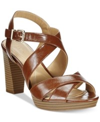 Alfani Women's Palaria Platform Sandals Only At Macy's Women's Shoes Cognac