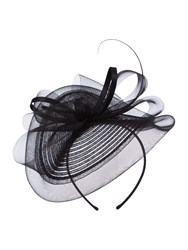 Linea Jasper Crin Bow Fascinator Black
