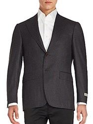 Canali Wool Plaid Sportcoat Blue