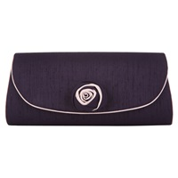Jacques Vert Two Tone Flower Bag Dark Purple