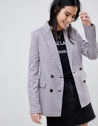 Bershka Check Blazer In Multi