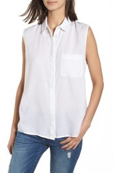 Dl1961 N 7Th And Kent Lace Up Top White Linen