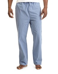 Nautica Cotton Plaid Drawstring Pants Lt French Blue